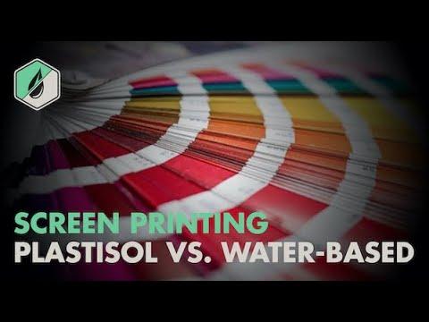 Plastisol vs Water Based Screen Printing Ink - Part II