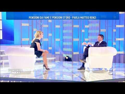 Matteo Renzi a Domenica Live intervistato da Barbara D'Urso