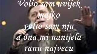 Halid Beslic - Zaljubljen sam stara majko (matrica i tekst) - YouTube