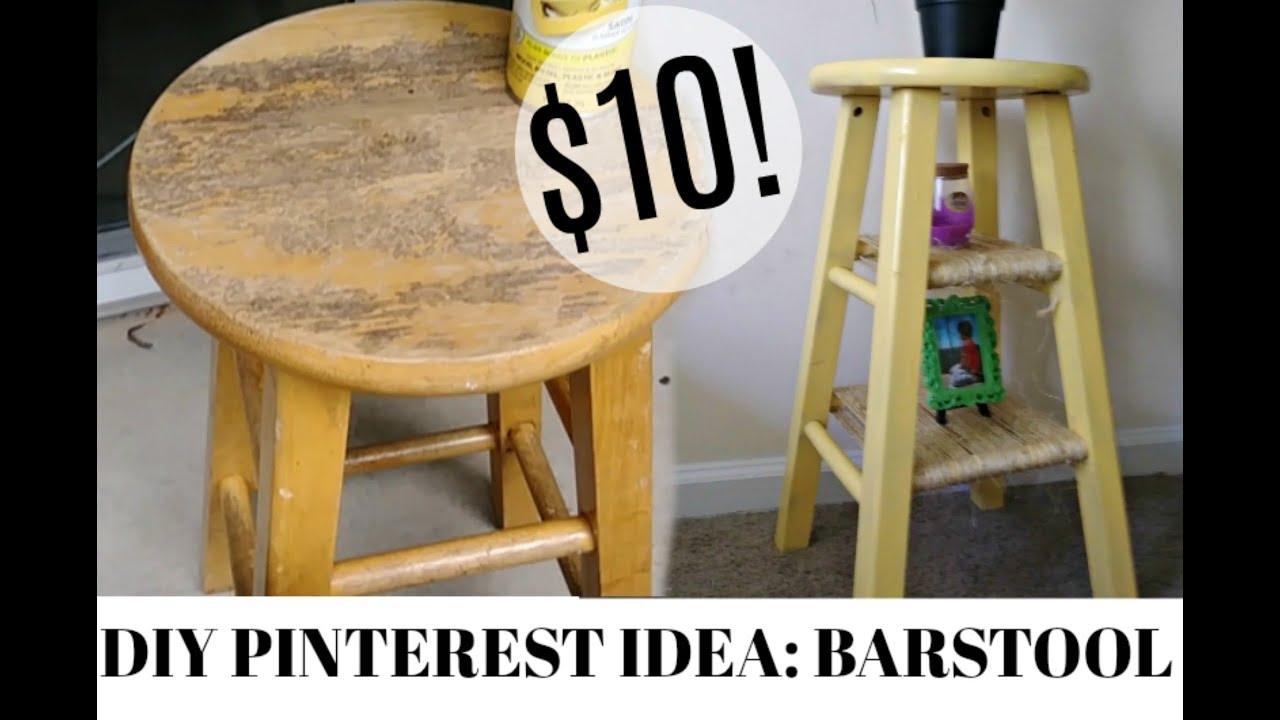 Diy Pinterest Idea Bar Stool Makeover Youtube