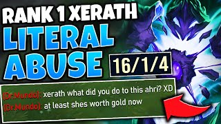 #1 XERATH WORLD EMBARRASSES ENEMY AHRI (HILARIOUS STOMP) - League of Legends