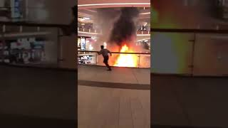 A Furniture Booth Inside Mid Valley Southkey Mall In Johor Bahru Caught Fire ! 18.9.2019