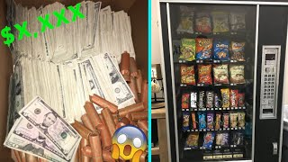 How Much Money Did I Collect From 25 Vending Machine Locations! HUGE COLLECTION!
