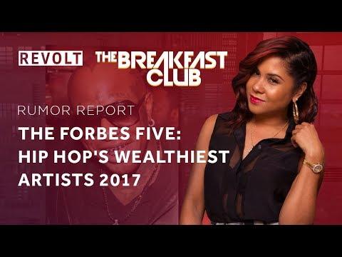 The Forbes Five: Hip Hop's wealthiest artists 2017 | Rumor Report