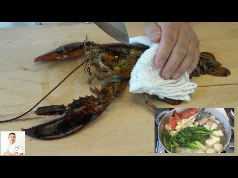 EXTREMELY GRAPHIC: Maine Lobster Yosenabe | Seafood Vegetable Hot Pot