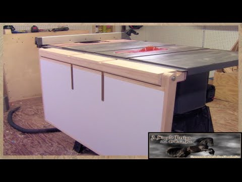 Make A Table Saw Out Feed Table