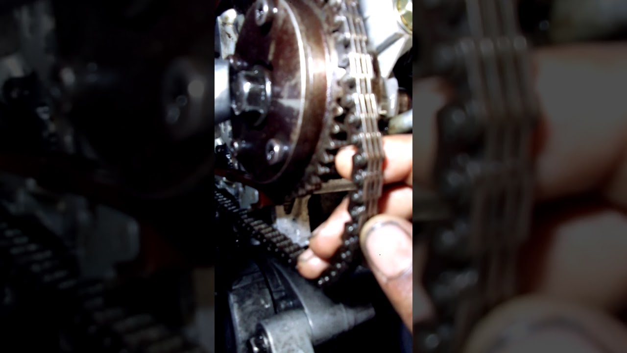 small resolution of honda cr v petrol engine timing chain timing marking