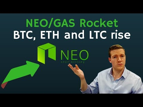 NEO & GAS Rocket Up, Bitcoin & Litecoin Up Solidly. Kyber Network Crushes it Post ICO