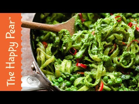 Winter Pesto Pasta in 5 minutes | The Happy Pear #VEGAN