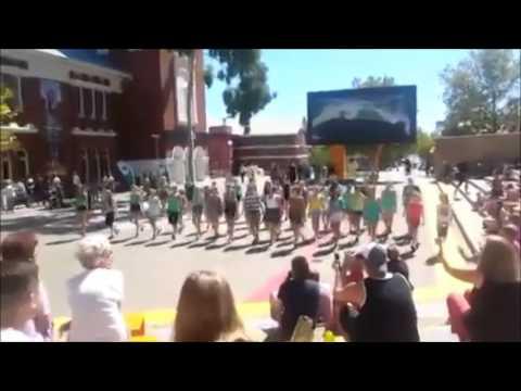 Irish Dancing Flash Mob - Perth Cultural Centre  - 9th March 2014 - St  Patrick's Festival WA