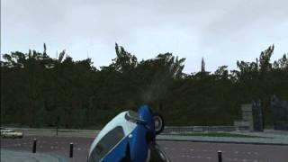 The Getaway (PS2) crazy car crash physics