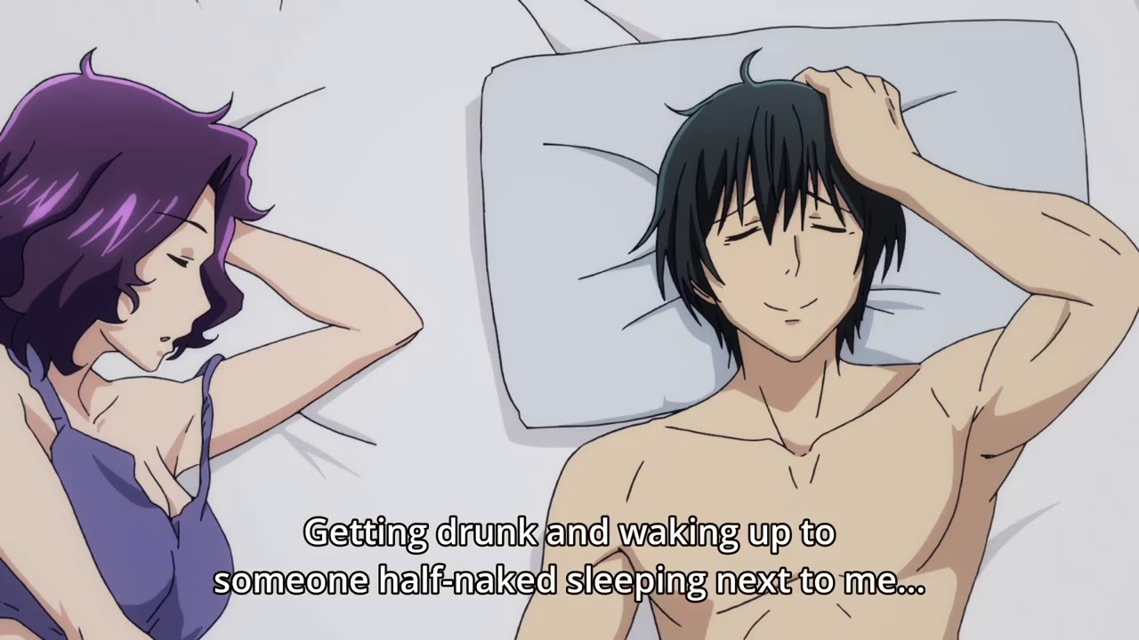 Anime Girl Naked On Bed that awkward moment when a girl wakes up in your bed | grand blue