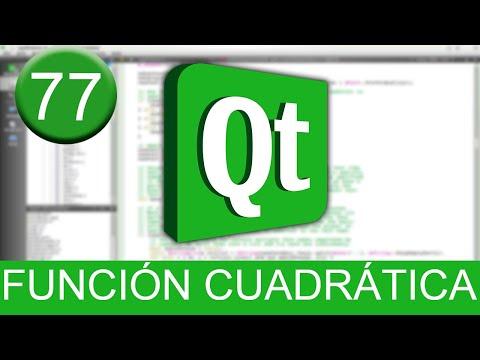 Tutorial Qt Creator - Gráfica de función cuadrática en C++