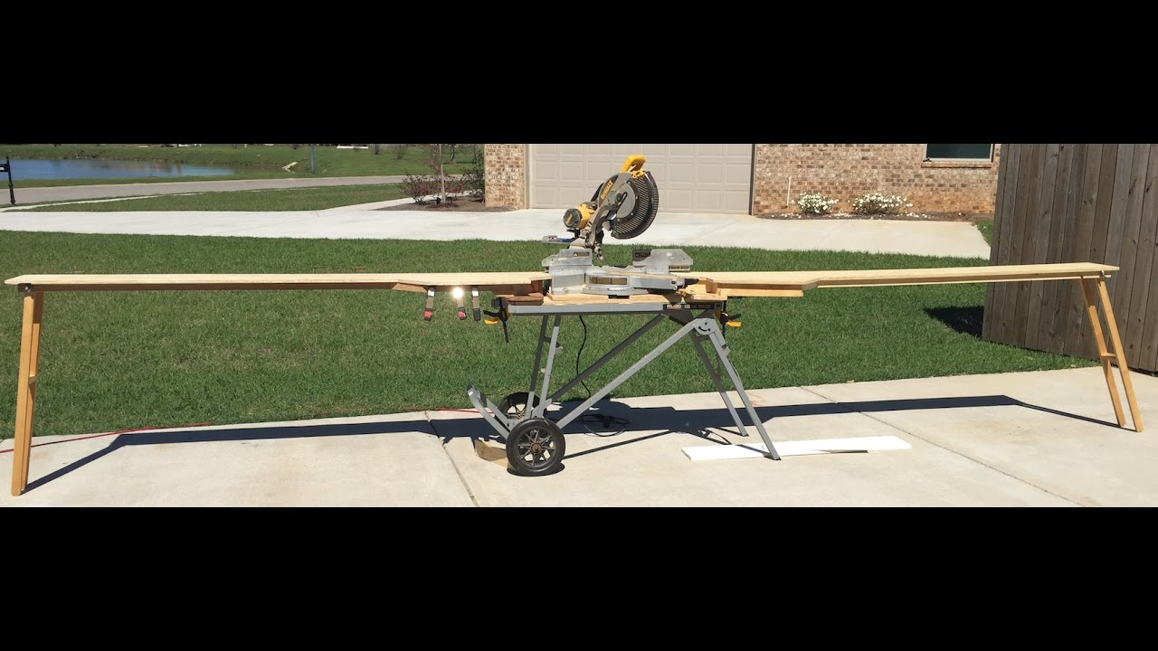 DIY: The Best Portable Miter Saw Station - YouTube