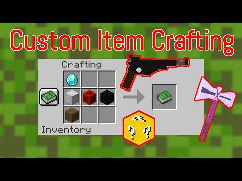 minecraft-custom-crafting-recipes-||-craft-custom-items!
