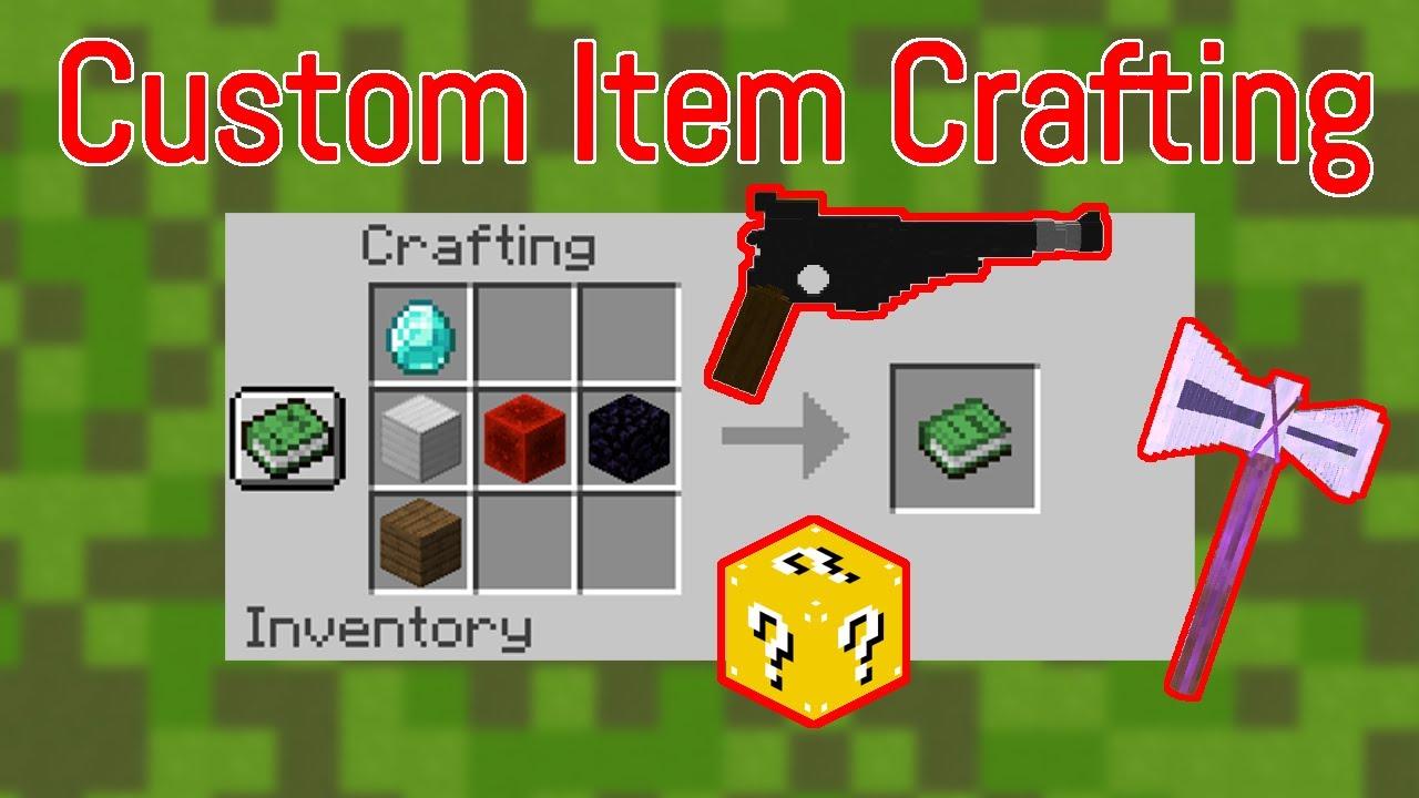 Minecraft Custom Crafting Recipes Craft Custom Items YouTube