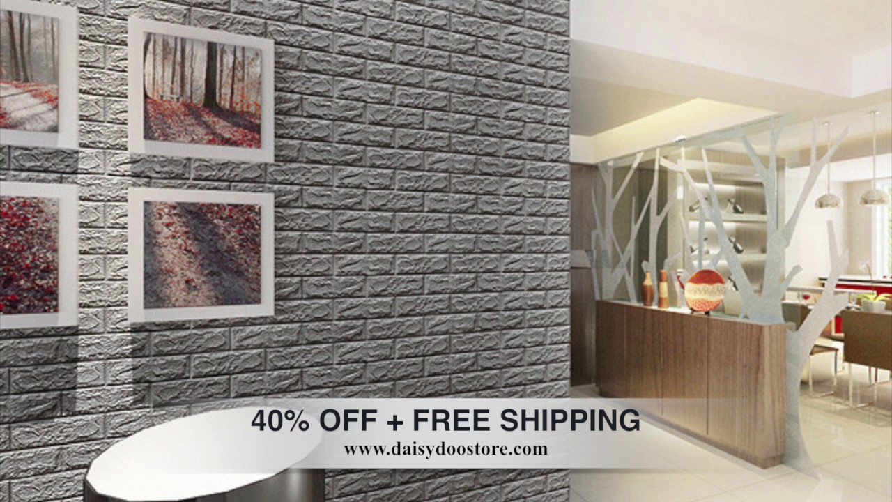 Nice 3D Brick Wall Sticker 40%OFF + FREE SHIPPING