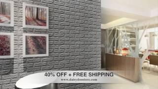 3D Brick wall sticker 40%OFF + FREE SHIPPING