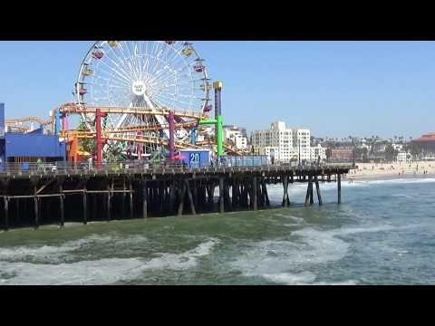 Santa Monica Pier California Pier and Beach May2017 HD