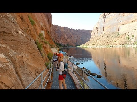 Raft Trip Colorado River Discovery Glen Canyon Dam Horseshoe Bend to Lees Ferry Page Arizona USA HD