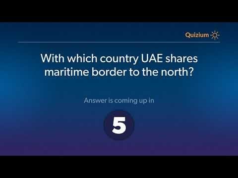 With which country UAE shares maritime border to the north?   United Arab Emirates Quiz
