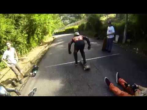 Raw Run: Party Island Downhill, Castries, St. Lucia.