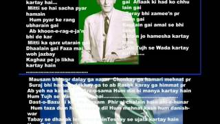 Aye Rooh e Quaid ( National pakistani ) Free karaoke with lyrics by Hawwa -