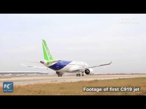 China's second C919 jumbo jet makes maiden flight