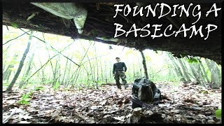 FOUNDING A BUSHCRAFT BASE CAMP - Locating Camp/ Building A LEAN TO (2 Days)