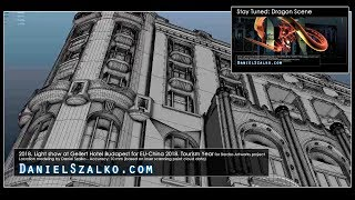 Architectural model for Projection Mapping - Gellert Hotel Budapest (EU-China 2018 Tourism Year)