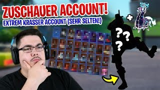 😨 EXTREMELY VALUABLE ACCOUNT from a ZUSCHAUER (He has the Rarest Skin + Spray) - Fortnite