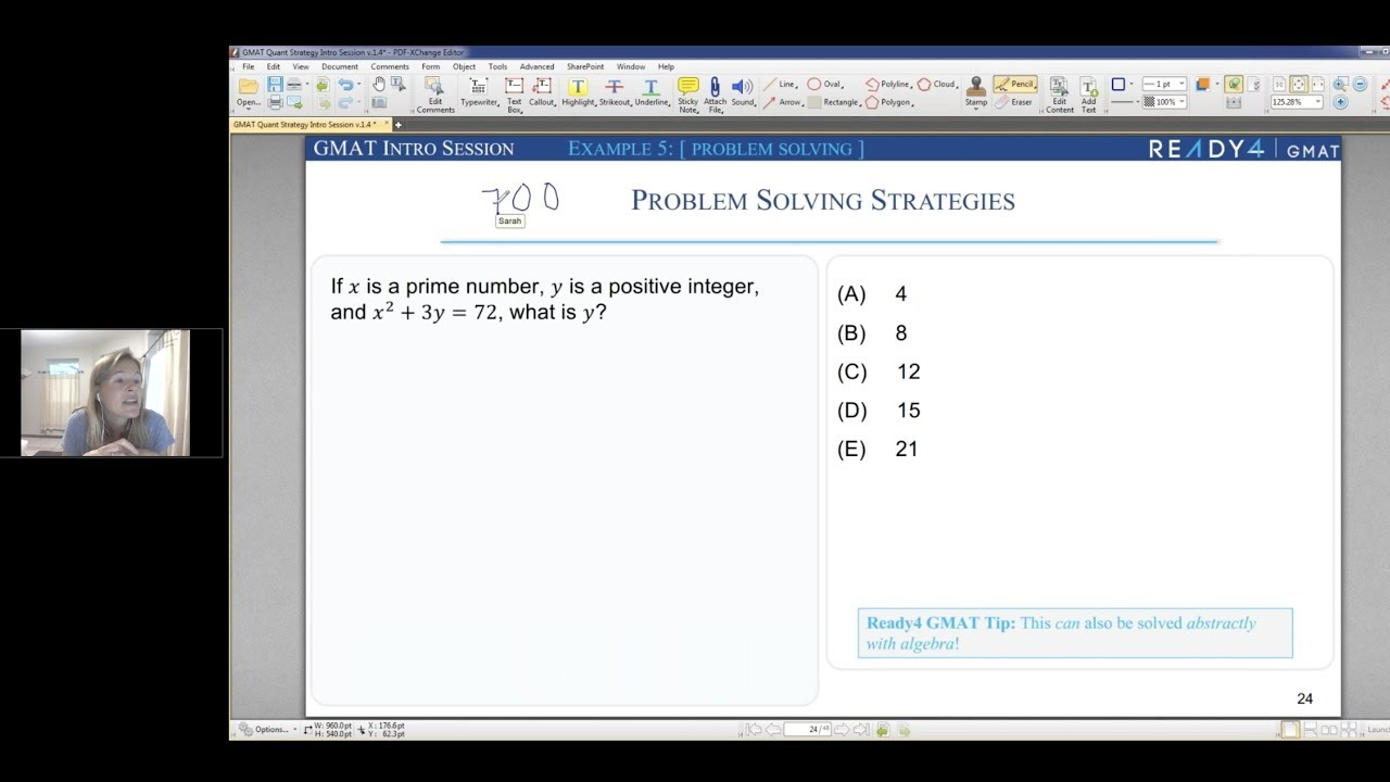 Introduction to GMAT Live Online and Quant Question with Sarah