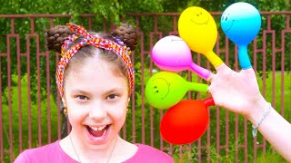 Daddy finger Family song   Evy and mom playing with balloons   동요와 아이 노래   어린이 교육