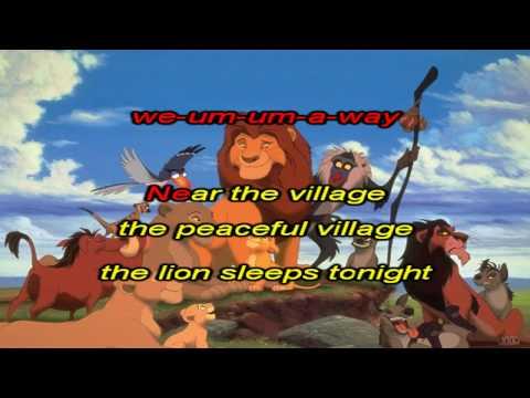 Disney Lion King - Lion Sleeps Tonight (Karaoke / Instrumental)