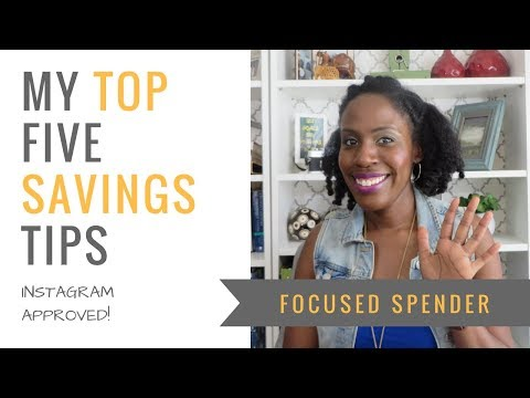 My Top 5 Savings Tips Guaranteed to Help You Save More Money FAST!!!
