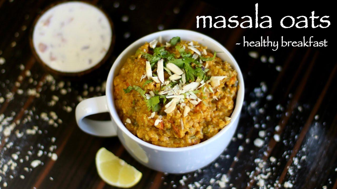 masala oats recipe   easy homemade veg masala oats upma ...
