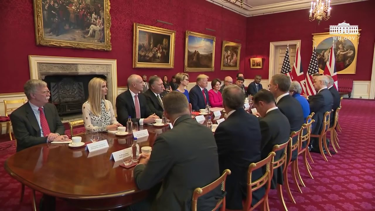 Right SIde Broadcasting - President Trump Participates in a Business Roundtable in London