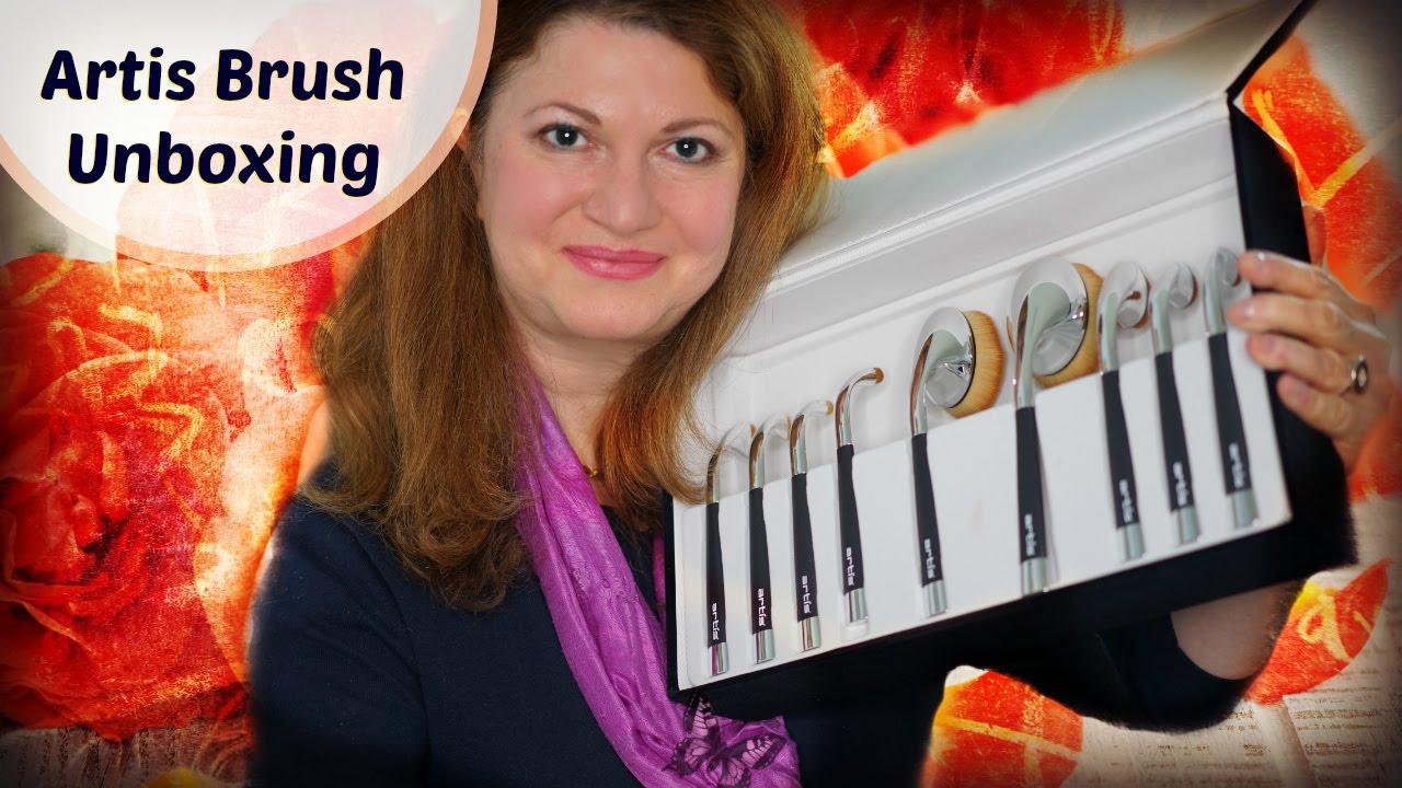 They arrived artis fluenta brush set unboxing youtube for Brush craft vs artis