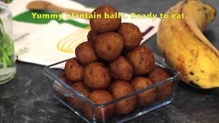 How to Make Plantain Balls  Plantain Recipe  yummieliciouz food recipes