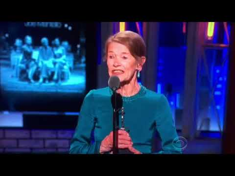 Glenda Jackson receives Tony Award for Leading Actress in a Play for Three Tall Women (6-10-2018)