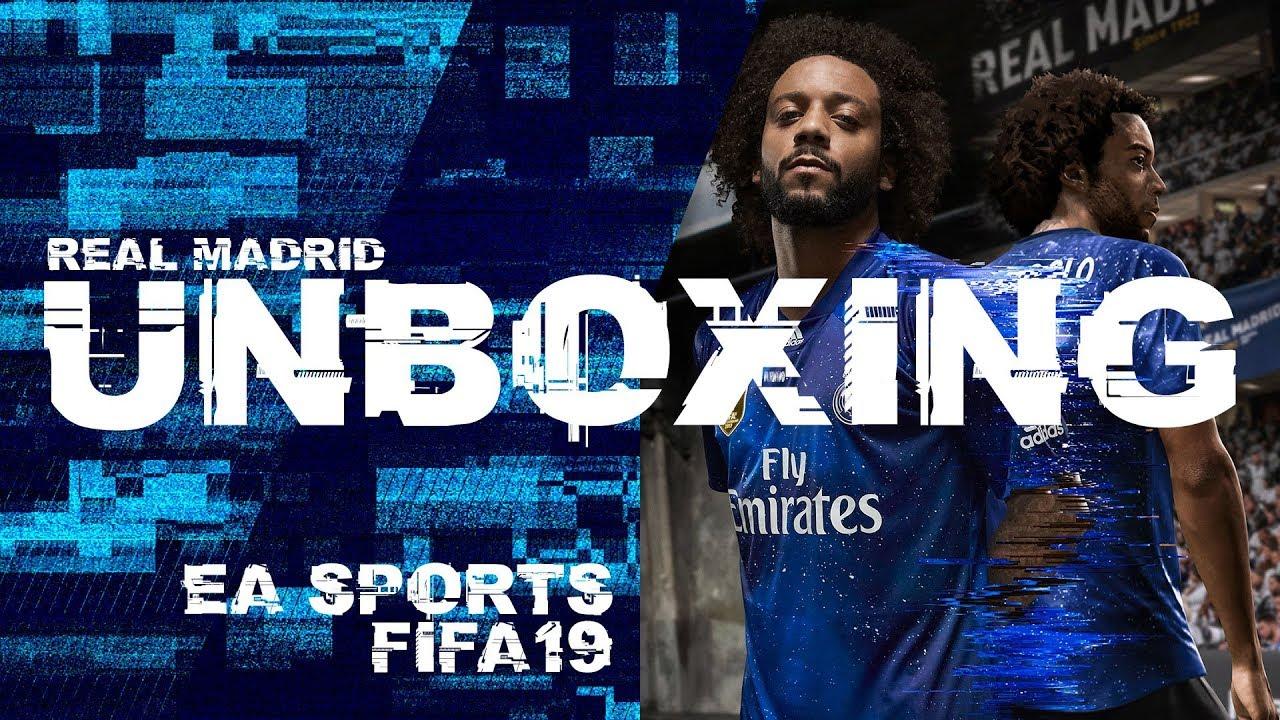 3186be5102 UNBOXING  Nueva camiseta Real Madrid 4th KIT EA SPORTS FIFA19 ...