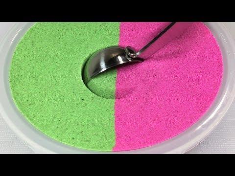 Satisfying Kinetic Sand Scooping - ASMR Sounds
