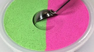 Satisfying Kinetic Sand Scooping - ASMR Sounds