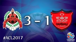 Al Rayyan vs Persepolis (AFC Champions League 2017 : Group Stage - MD3) 2017 Video