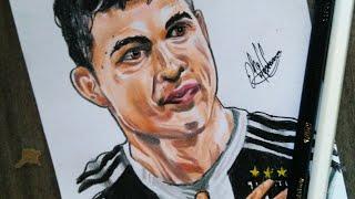Desenhando Cristiano Ronaldo CR7 /Drawing Cristiano Ronaldo