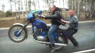 Подборка мото приколов на мотоциклах ИЖ | Uma seleção de piadas moto em motocicletas IZH