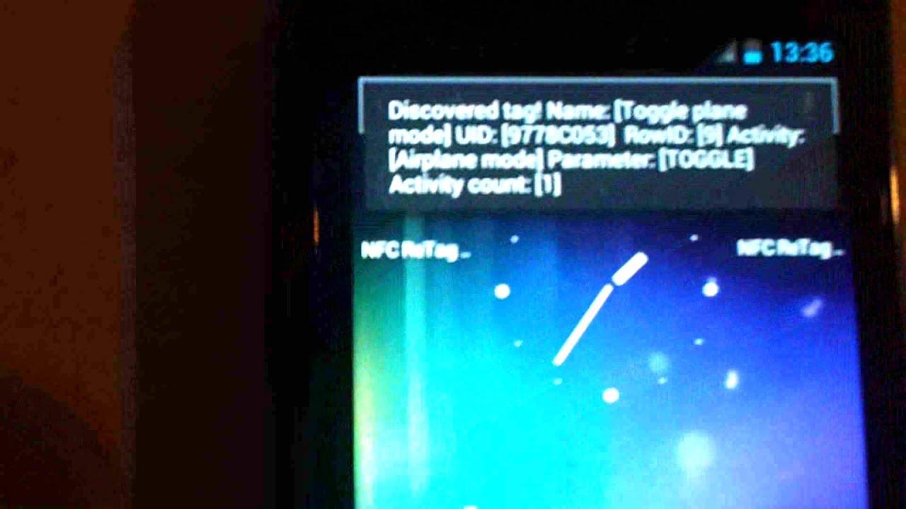 Toggle airplane mode with NFC ReTag