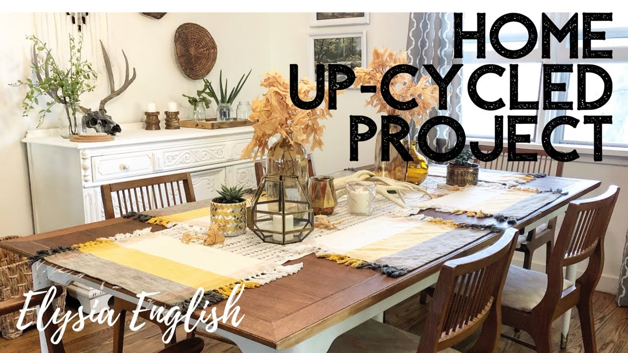 Home Up Cycled Project | DIY Home | Table Set Refinishing | Elysia English  Tutorial |BOHO Home Decor