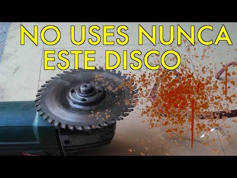 Campan?a: No usen disco corte madera en amoladora.