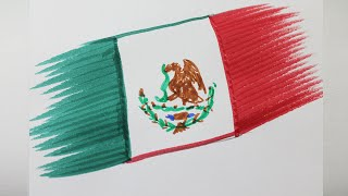 How to draw the flag of mexico